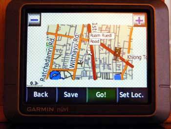 Bangkok map on Garmin Nuvi