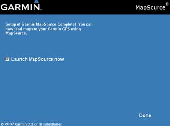 Mapsource update done